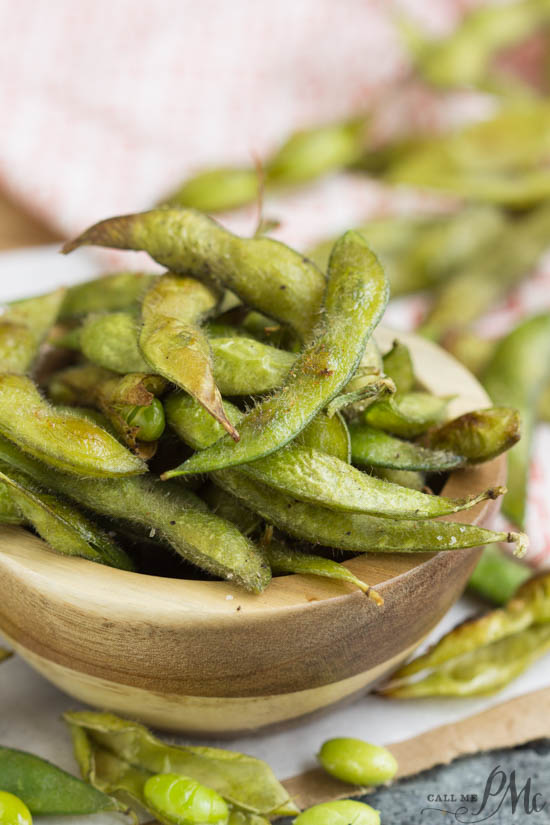 Roasted Edamame in Pod Recipe is a healthy appetizer or snack recipe with just four ingredients. It's a crunchy, portable, & waist-line friendly snack.
