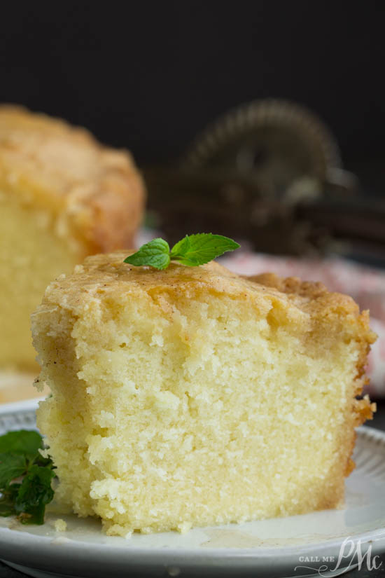 Weekend Potluck Recipes - Pound Cake on a white plate