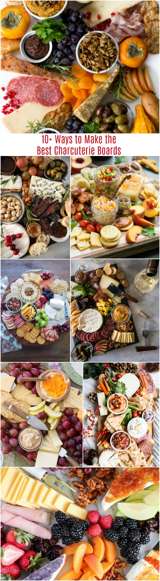 10+ Ways to Make the Best Charcuterie Boards - There always seem to be game day parties, family gatherings, and cocktail soiree's every few weeks regardless of the time of year. Cheese and Charcuterie Boards are my go-to, easy trick for stress-free entertaining.