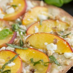 Low-Carb Peach Mascarpone Dessert Flatbread