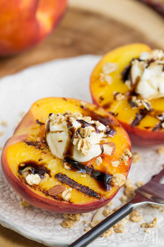 Peaches and Mascarpone with Balsamic Reduction takes advantage of seasonal indulgences, utilized at the peak of their harvest then paired perfectly with cheeses and fresh herbs.