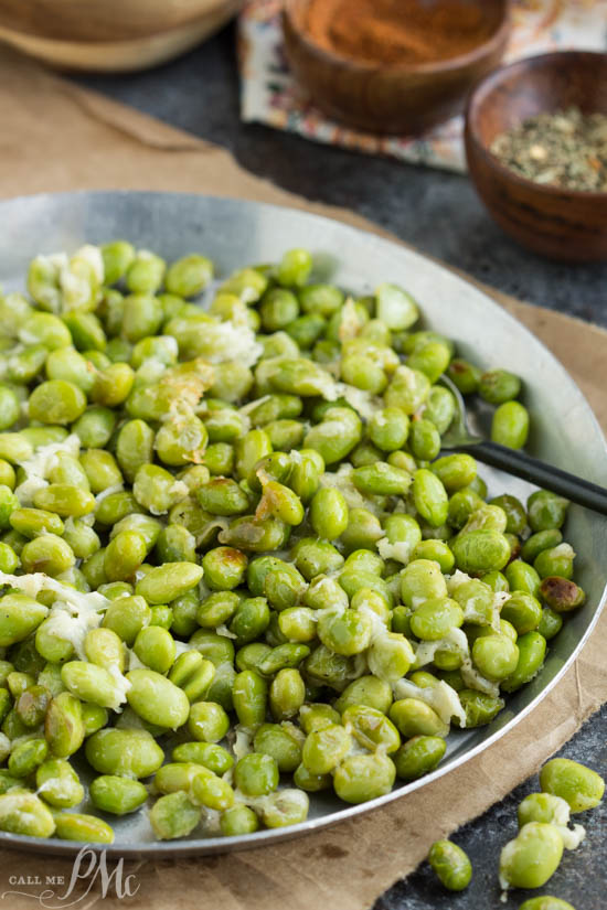 Shelled Crispy Parmesan Garlic Edamame is a healthy recipe that's high in protein and fiber. It's great as a snack and ready in 15 minutes.
