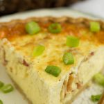 This easy breakfast quiche uses a prepared pie crust for convenience that's perfect for brunch. Bacon Havarti Quiche Recipe is a delicious combination of eggs, Havarti cheese, bacon, fresh herbs, all cradled in a delicious thin pie crust!