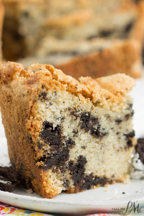 Oreo Buttermilk Pound Cake recipe is a soft, buttery pound cake with chunks of Oreo cookies and cream cookies in it. This rich decadent pound cake is a flavor explosion in your mouth!