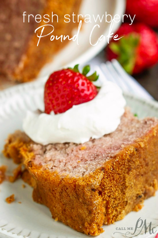 Fresh Strawberry Buttermilk Pound Cake (No Jello or Kool-Aid) recipe is loaded with real fruit, fresh strawberries. bundt cake