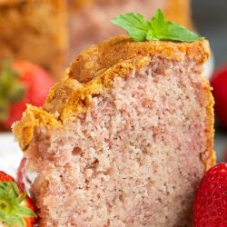 Real Fruit Strawberry Buttermilk Pound Cake (No Jello or Kool-Aid) recipe is a delightful strawberry pound cake made with condensed fresh strawberries. Fresh Strawberry Pound Cake. Strawberry Pound cake #strawberry #strawberrypoundcake #poundcake #cake #dessert #Southern #traditional #classic #moist #easy