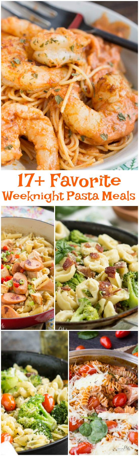 My 17+ Favorite Weeknight Pasta Dinners that are tasty, filling, and best of all uncomplicated to make. You are going to be absolutely in love with these amazing pasta recipes.