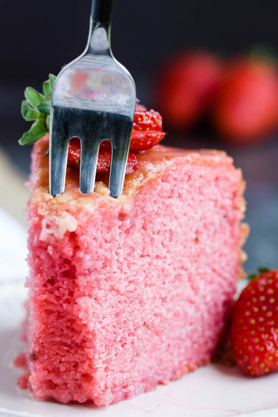 Melt in your Mouth Strawberry Buttermilk Pound Cake is simply amazing. The intense strawberry flavor and ultra-moist cake make a winning combination.