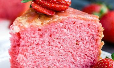 MELT IN YOUR MOUTH STRAWBERRY BUTTERMILK POUND CAKE