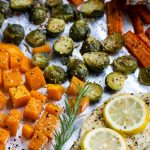 If you're looking for a quick, healthy weeknight dinner that's ideal for meal prep, look no further, Flavorful Sheet Pan Roasted Chicken, Butternut Squash, Brussels, and Carrots is perfect!