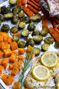 If you're looking for a quick, healthy weeknight dinner that's ideal for meal prep, look no further,Flavorful Sheet Pan Roasted Chicken, Butternut Squash, Brussels, and Carrots is perfect!