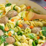 Skinny Turkey Meatball Tortellini Soup