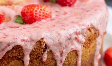 Strawberry & Cream Pound Cake with Jello