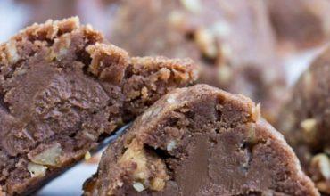 Chocolate Pecan Sandies Secret Kiss Cookies