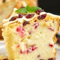 Holiday Greek Yogurt Cranberry Pound Cake