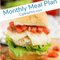 Monthly Meal Plan 4