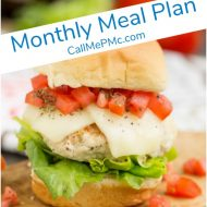 Monthly Meal Plan #4 - I am so ready for my normal routine. I enjoy the holidays, but working from home makes it hard to get work done. Even planning and cooking dinner for my family can be a challenge.