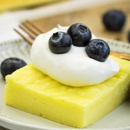 2 Ingredient Fat-Free Lemon Sheet Cake