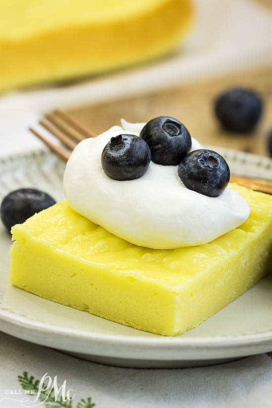 2 Ingredient Fat-Free Lemon Sheet Cake is a bright and sweet in flavor with a rich brownie-like texture. #lemon #dessert #cake