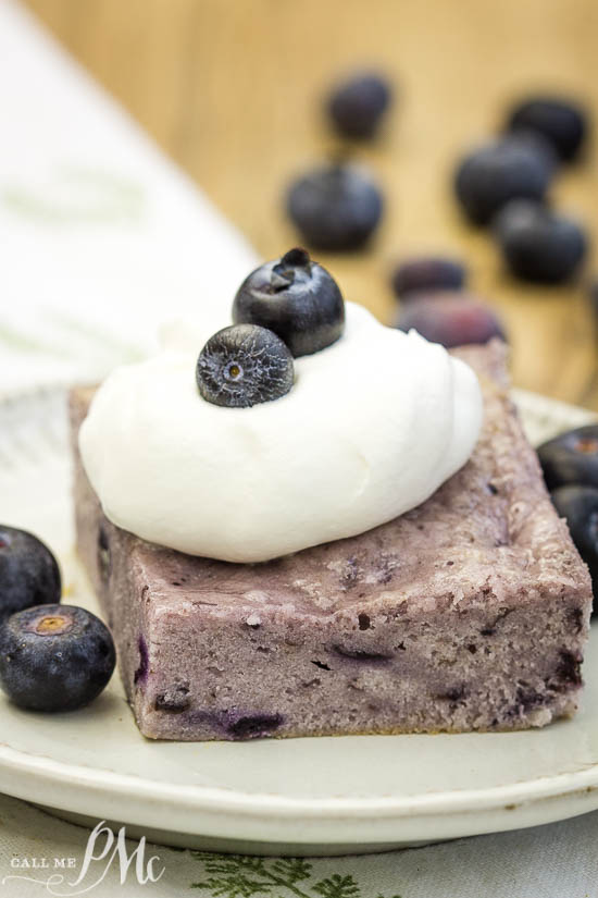 #dessert #cake Angel Food Fat-Free Blueberry Cake recipe has just two ingredients. It's slightly sweet, tender, very moist with a nice blueberry flavor.