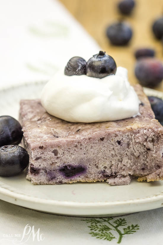 Angel Food Fat-Free Blueberry Cake recipe has just two ingredients. It's slightly sweet, tender, very moist with a nice blueberry flavor.