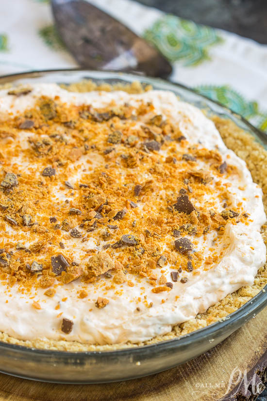 Sweet and salty meet in this Epic No-Bake Butterfinger™ Cheesecake Pie recipe. With chunks of Butterfinger and a salty graham cracker crust. This is the perfect dessert.
