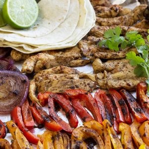 Healthy 20 Minute Chili Lime Sheet Pan Chicken Fajita Recipe