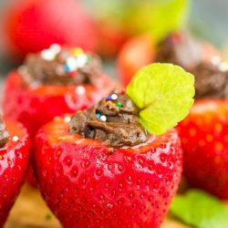 Tasty Chocolate Stuffed Strawberries