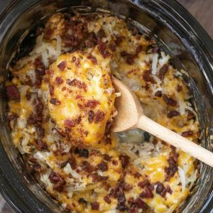 CROCK POT CRACK HASH BROWN POTATOES