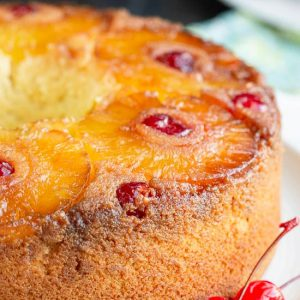Amaretto Pineapple Upside Down Pound Cake
