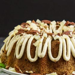 BLUE RIBBON ROASTED CARROT POUND CAKE WITH PINEAPPLE MASCARPONE FROSTING