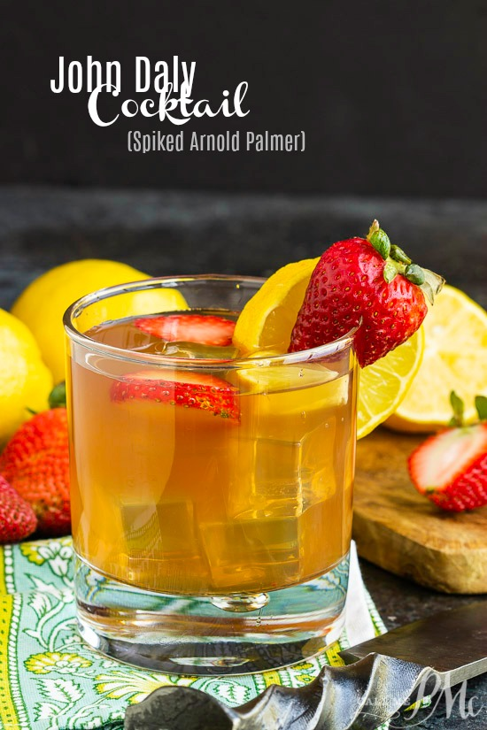John Daly Cocktail | Spiked Arnold Palmer - A John Daly is an alcoholic mixed drink made of lemonade, iced tea, and vodka.