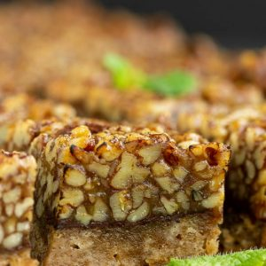 MEXICAN STYLE PECAN CHOCOLATE SQUARES