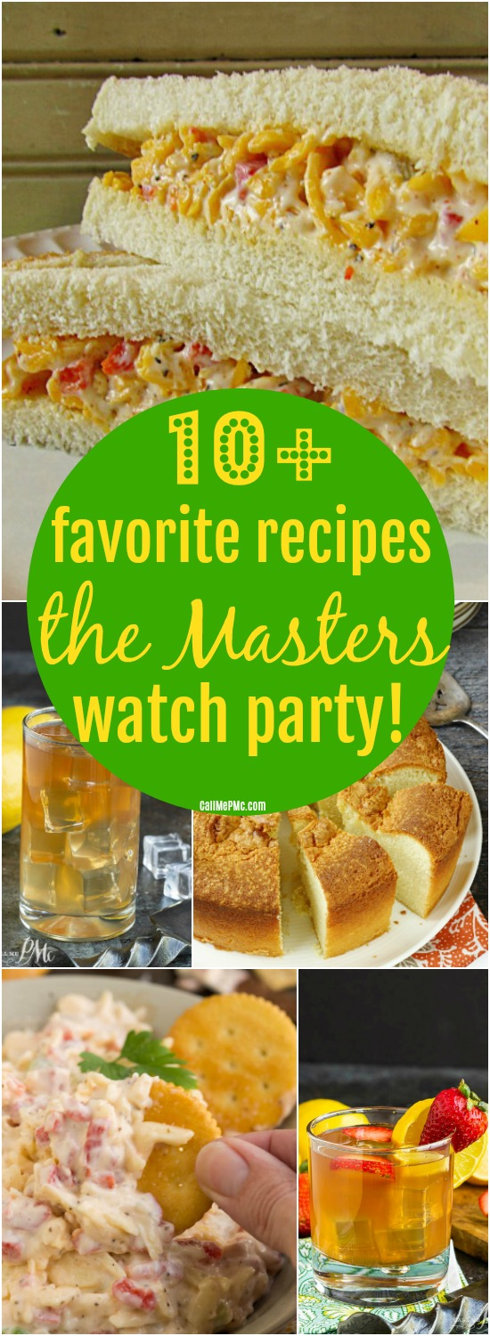 If you haven't enjoyed traditional foods served at The Masters first hand, I put together the most famous recipes for you to enjoy at home, 10+ Recipes for The Masters Watch Party.