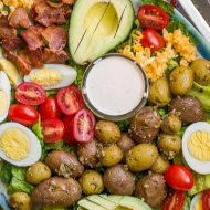 BEST COBB SALAD WITH BUTTERMILK GARLIC DRESSING