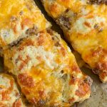 Homemade Sausage Cheddar Biscuits, this portable breakfast has the sausage and cheese baked right in.