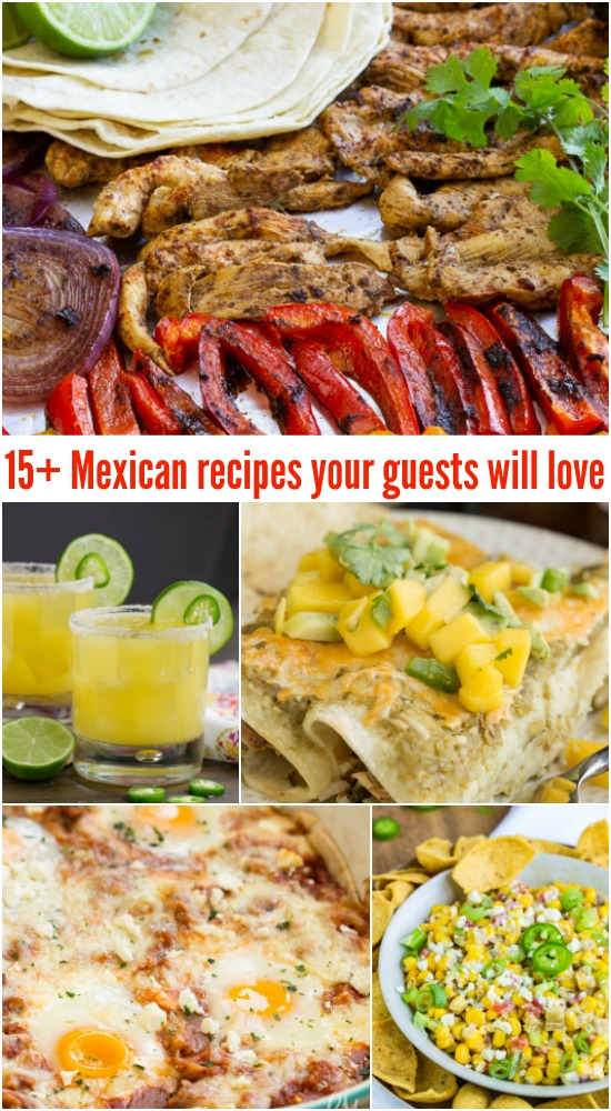 MEXICAN RECIPES YOUR GUESTS WILL LOVEWhether your hosting a party or just enjoy Tex-Mex and Mexican flavors, I have a great list of recipes for you.