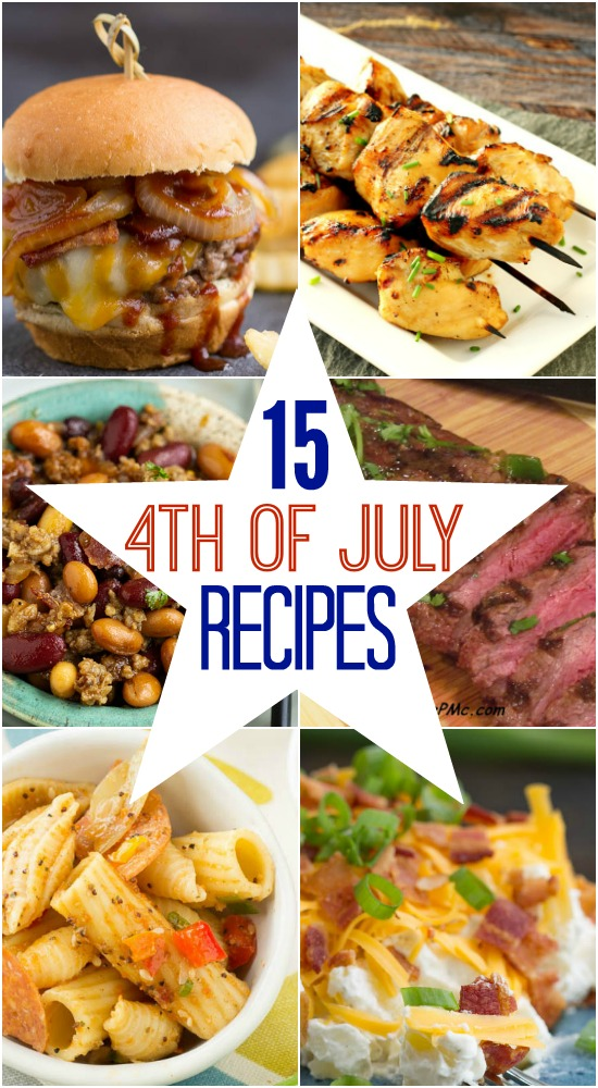 Easy and delicious, my Top 15 4th of July recipes are the perfect recipes for your Independence Day celebrations. I have something for everyone. There are burgers, chicken, steak, and scrumptious sides.
