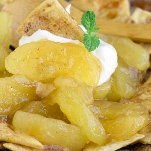 HOMEMADE APPLE PIE NACHOS WITH CINNAMON CHIPS