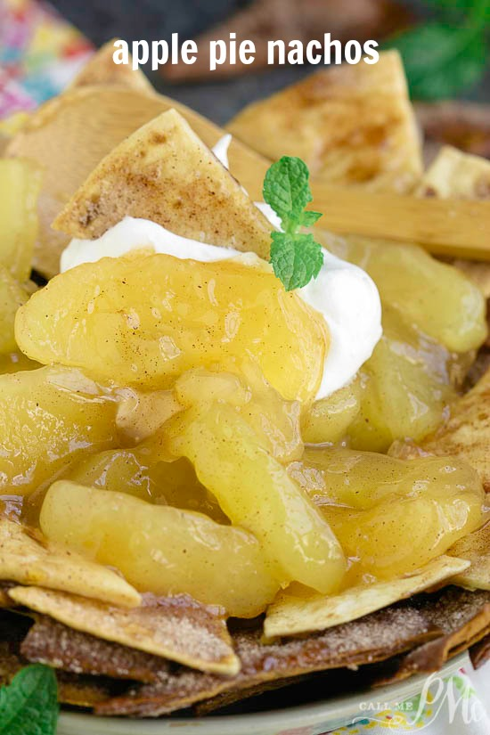 Nachos just reached a new level with Homemade Apple Pie Nachos with Cinnamon Chips. All of the flavors you love in an apple pie, but in a fun and shareable way!