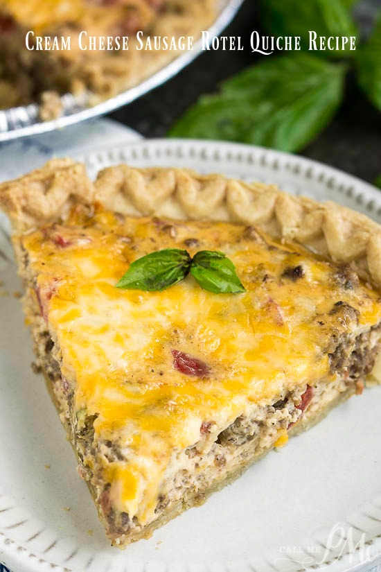 is seriously delicious. All the flavors of our favorite dip in a quiche! Can make ahead and refrigerate or freeze for later. #recipe #eggs #breakfast #baked #sausage #cheese #dip