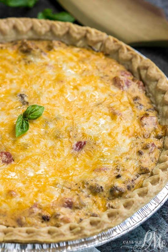 Cream Cheese Sausage Rotel Dip Quiche