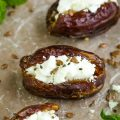 GOAT CHEESE STUFFED DATES RECIPE
