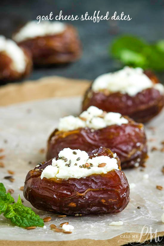 Quick, simple, yet elegant, these Goat Cheese Stuffed Dates Recipe are highly customizable and are the perfect addition to your snack and appetizer lineup.