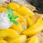 Peach Cobbler Nachos Recipe is a super simple dessert recipe that allows everyone to enjoy the amount they want.