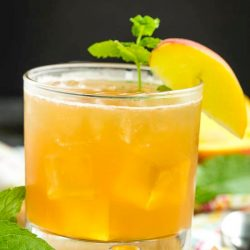 Peach Old Fashioned Cocktail