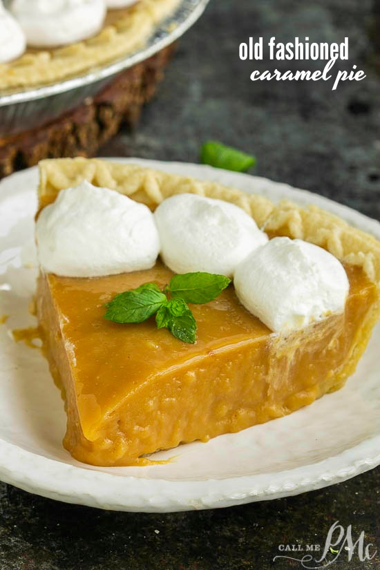 A caramel lover's dream, Old Fashioned Caramel Pie Recipe is rich and dense. This splurge-worthy dessert is totally worth the effort!