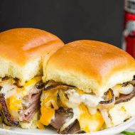 BAKED CHEDDAR ROAST BEEF SLIDERS