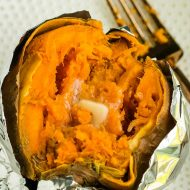 MICROWAVE BAKED SWEET POTATO RECIPE