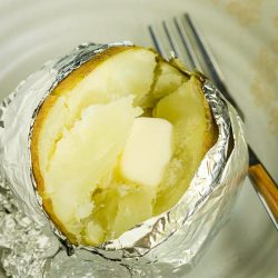 the Best microwaved baked potato